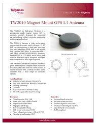 TW2010 Magnet Mount GPS L1 Antenna - Blue Planet Geomatics
