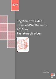 Reglement für den Internet-Wettbewerb 2010 im ... - Intersteno