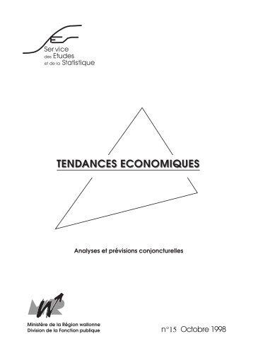 Dynamique d'évolution de l'économie wallonne et - Iweps