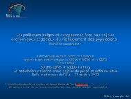 Présentation de Micheline Lambrecht - Conseil économique et ...