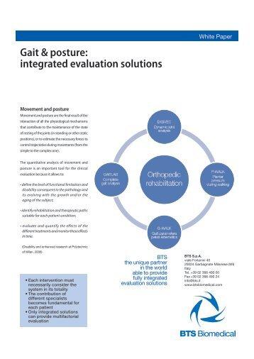 Gait & posture: integrated evaluation solutions - Bts.it