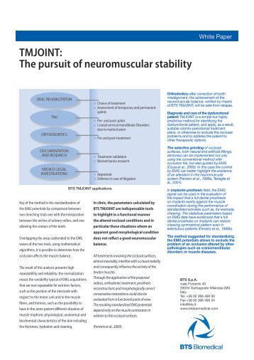 TMJOINT: The pursuit of neuromuscular stability - Bts.i