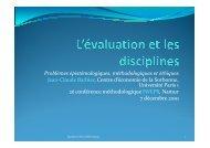 Présentations de la séance plénière - IWEPS