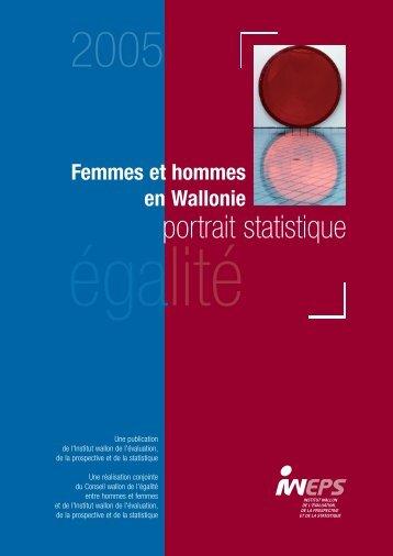 Femmes et hommes en Wallonie - égalité - Iweps