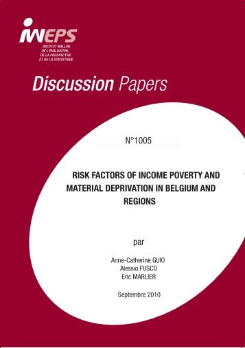 Discussion Papers RISK FACTORS OF INCOME POVERTY ... - Iweps