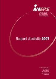 Rapport d'activité 2007 - IWEPS