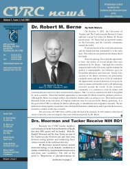 Dr. Robert M. Berne - Cardiovascular Research Center - University ...