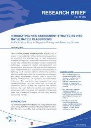 Integrating New Assessment Strategies into Mathematics Classrooms