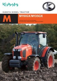 Kubota Traktor Modell M110 GX/ M135 GX
