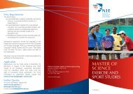 MASTER OF SCIENCE - National Institute of Education