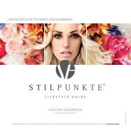 STILPUNKTE Lifestyle Guide Ausgabe Niederrhein Frühjahr/Sommer 2015