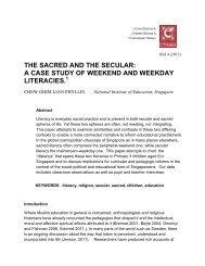 the sacred and the secular - Jabatan Bahasa dan Kebudayaan Melayu