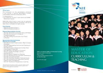Master of Education (Curriculum and Teaching) - National Institute of ...