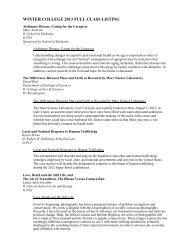 winter college 2013 full class listing - Indiana University Alumni ...