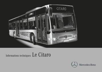 Informations techniques Le Citaro