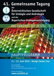 Hauptprogramm der 41. Gemeinsamen Tagung der Österreichischen Gesellschaft für Urologie und Andrologie und der Bayerischen Urologenvereinigung