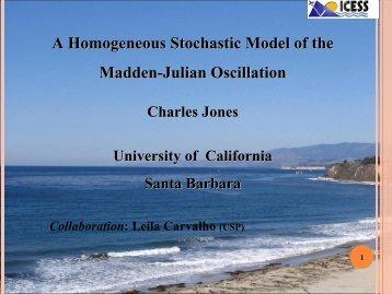 tochastic Model of the Madden-Julian Oscillation