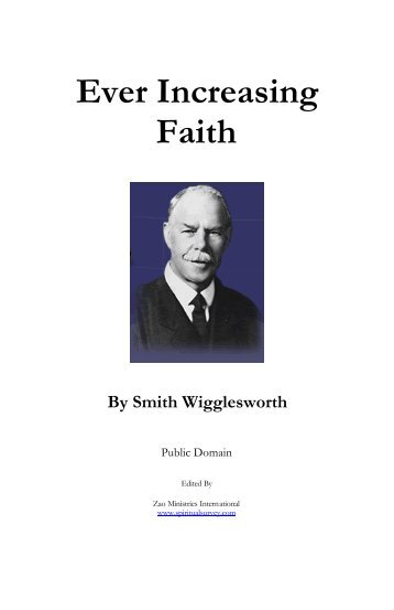 Ever Increasing Faith Smith Wigglesworth Pdf
