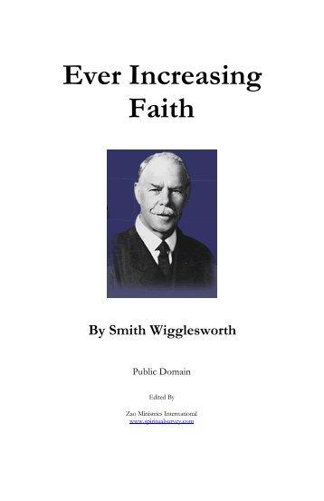 Ever Increasing Faith Smith Wigglesworth Pdf