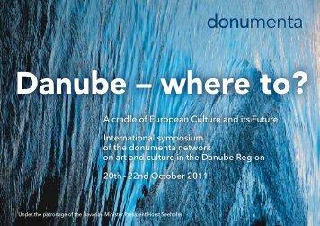 Danube – where to? - Donumenta