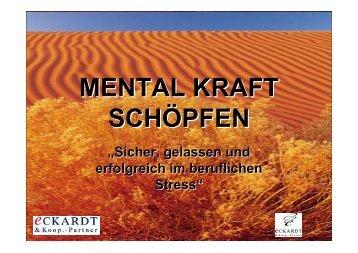 MENTAL KRAFT SCHÖPFEN - Heilberufe