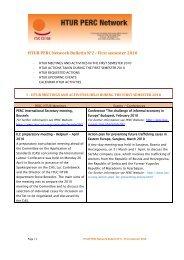 HTUR PERC Network Bulletin N°2 - First semester 2010