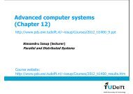 Advanced (Large-Scale) - Parallel and Distributed Systems - TU Delft