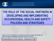 the social dialogue - Pan-European Regional Council