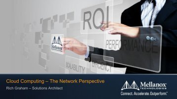 Cloud Computing – The Network Perspective
