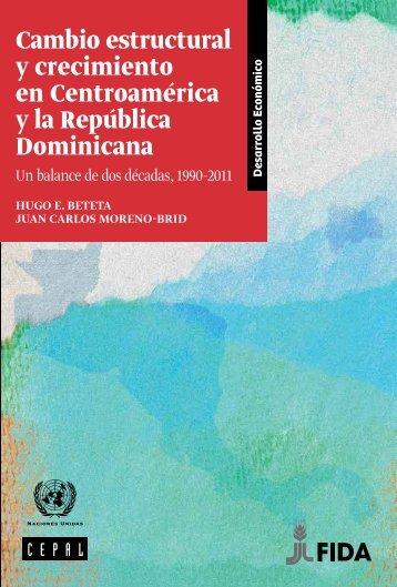 Cambio estructural y crecimiento en Centroamérica y la República Dominicana