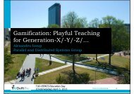 Gamification: Playful Teaching for Generation-X/-Y/-Z - Parallel and ...