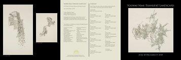 Exhibition Brochure - Marianna Kistler Beach Museum of Art