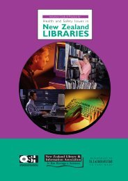 Libraries - Voluntary Code of Practice for Health and Safety Issues in ...