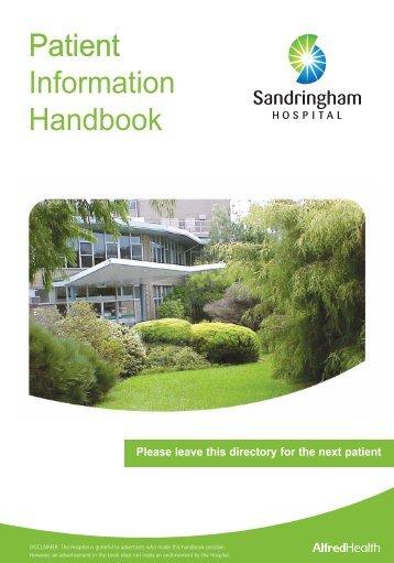Patient Information Handbook 2012 Patient - Alfred Hospital