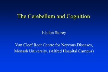 Cognitive Consequences of Progressive Cerebellar ... - Alfred Hospital