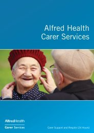 A Service For Carers - Alfred Hospital