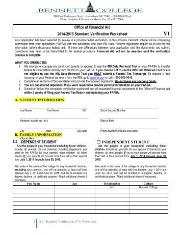v1 verification worksheet standard mission college. Black Bedroom Furniture Sets. Home Design Ideas