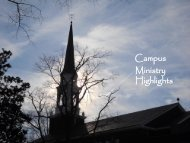 Campus Ministry Highlights - Bennett College