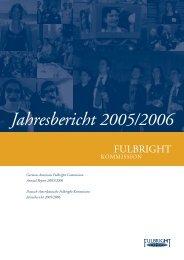 Jahresbericht 2005/2006 - Fulbright-Kommission