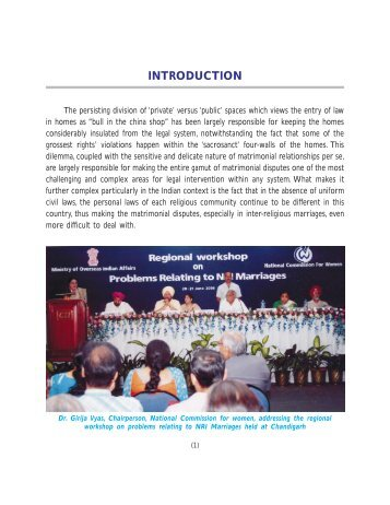 Book NRI Marriages - The National Commission For Women