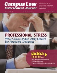 Volume 36, No. 5 - September/October 2006 Campus Law ... - IACLEA