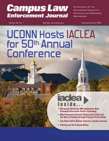 January/February 2008; vol. 38, no. 1 - IACLEA