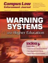 Vol. 37, No. 5 - September/October 2007 Campus Law ... - IACLEA