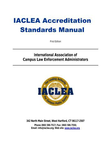 IACLEA Accreditation Standards Manual
