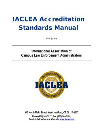 IACLEA Accreditation Standards Manual