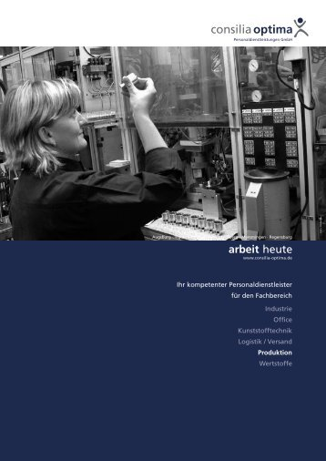 Fachbereich Produktion - Consilia Optima