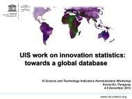 4. 2011 UIS pilot data collection - Ricyt