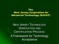 A Framework for Technology Acceptance - Rutgers EcoComplex