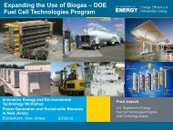 Fuel Cell Technologies Overview - Rutgers EcoComplex