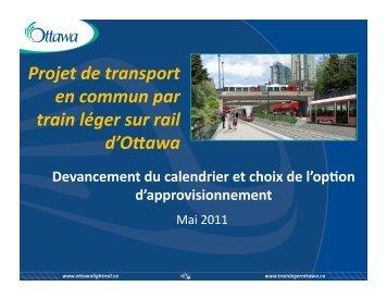 Projet de transport en commun par train léger sur ... - Ottawa Light Rail